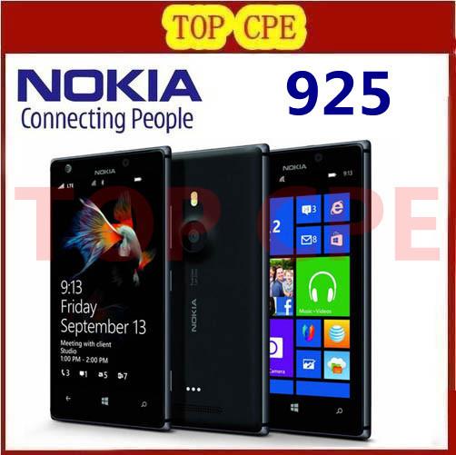 Nokia Lumia 925 Dual Core 1 GB RAM 16GB 8MP Camera 4.5inch Touch Screen Microsoft Original Refurbished Windows 8 Smart Phone(China (Mainland))