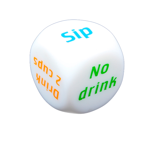 Drink Decider Die Games Bar Party Pub Dice Fun Funny Toy Drinking Game ES88(China (Mainland))