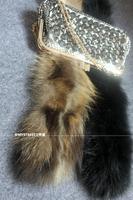 Raccoon fur genuine leather fur scarf muffler scarf self-shade thick plus size long design