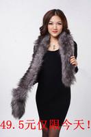 2013 fox fur scarf muffler scarf cap of faux cape female