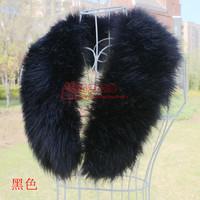 Fox fur collar faux collar raccoon fur wool muffler scarf collar vigoreux cap of false collar cape black