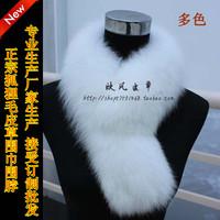 Fox fur scarf broadened female autumn and winter thermal fur scarf muffler scarf fox fur collar cap of