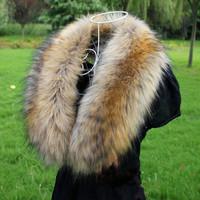 Raccoon fox fur collar faux collar muffler scarf collar vigoreux cap of false collar cape