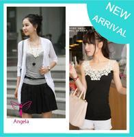 Multi Color Hot Fashion Women Lady Crochet Camis Vest Singlet Summer Tank Tops Cotton Sleeveless T Shirts Free Shipping TS-062