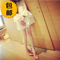 free shipping 2014 spring beautiful petals organza patchwork basic chiffon one-piece dress