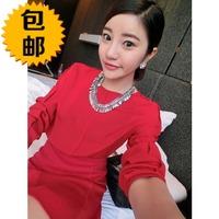 free shipping 2014 spring elegant slim all-match chiffon shirt basic shirt top female