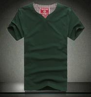 Plus size t-shirt plus size plus size fat 8xl short-sleeve lycra cotton V-neck solid color short-sleeve T-shirt