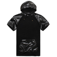 Xinda Size summer large plus size plus size fat guys short-sleeve hoodie 8xl with a hood short-sleeve T-shirt