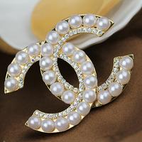 Bling Famous Logo Diamante Pearl Diy Phone Decoration Sticker