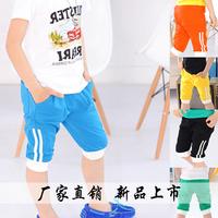 2014 New Summer  Kids/Children Boys Cotton Blend  Casual Short Capri Pants ,1 lot=5 sizes each color 2750