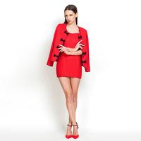 YIGELILA 837 Latest 2014 Ladies Women Work Dress Suit Dress Two-piece Dress Free Shipping
