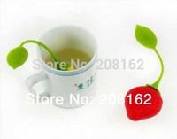 1Pcs Strawberries Shape Tea Infuser Tea Strainers Silicone Teaspoon Filter Infuser Silica Gel Filtration