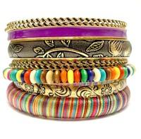 Spring 2014 New Bohemian Bracelet & Bangles Vintage Luxury Designed Women Multi Layers Bangle Set Wholesale Fashion Jewelry