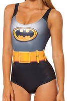 HOT 2014 High Quality Sexy Bikini Bodysuit BATMAN Digital Printing Swimwear Women Free Shipping-K326