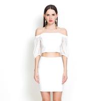 YIGELILA 840 Latest 2014 Ladies Puff Sleeve Dress Suit Dress Two-piece Dress Free Shipping
