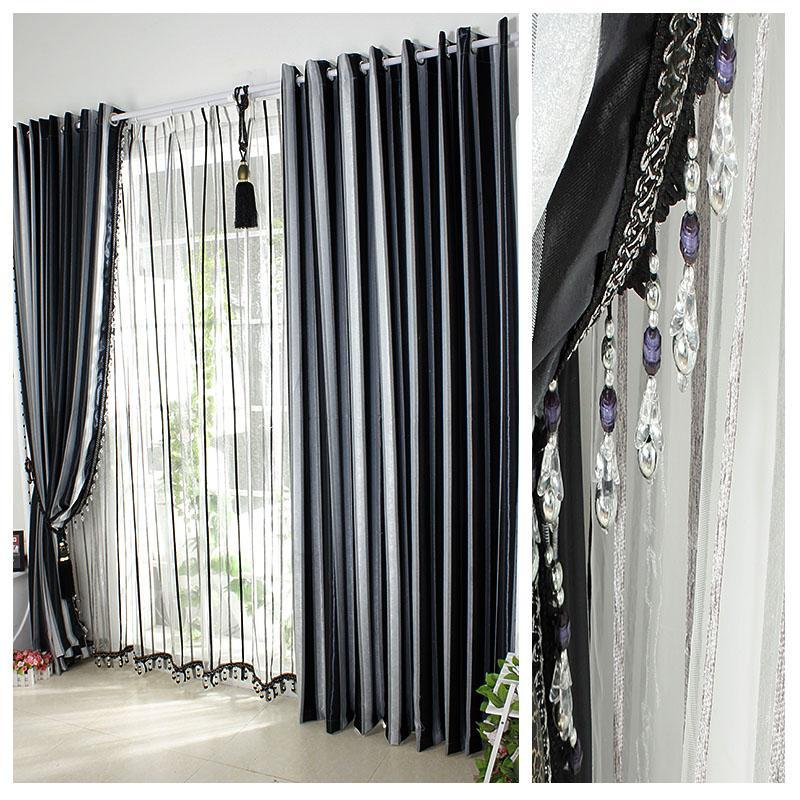 Compra blanco y negro de cortinas online al por mayor de - Cortinas en blanco y negro ...
