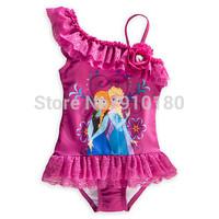 10pcs/lot Baby Girls Swimwear Toddler Swimsuit Cartoon Frozen One-piece 2-10 Years Tankini Bathing Bather Beachwear