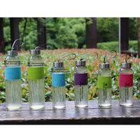 Glass Water Bottle With Different  Colour