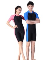 short sleeve diving suit thin Lycra wetsuits  one-piece rash guard sun-protective clothing 603 swimming  snorkeling clothing set