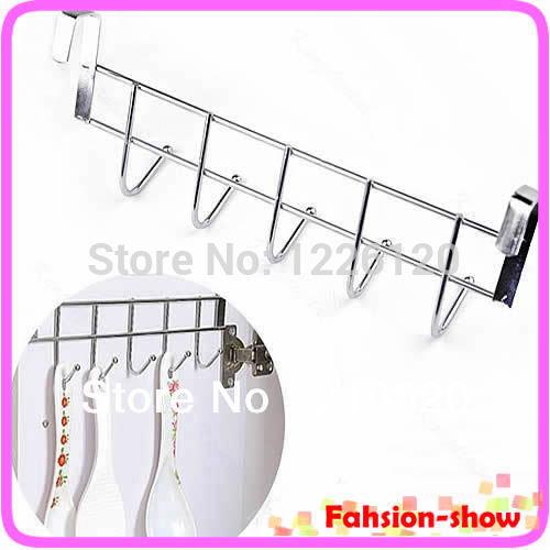 W110New Arrive Bathroom Kitchen Hat Towel Hanger Over Door Hanging Rack Holder Five Hooks Wholesale(China (Mainland))