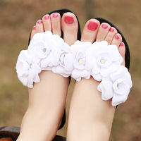 2014 new Gum camellia women's jelly flip flops slippers flower sandals female sandals