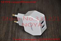 EU plug 2 Ports USB charger For iPhone iPad ipod/iTouch Smartphone PSP/GPS Camera singapore free ship