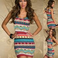 2014 Brand New Vintage Fashion Women's Mini Dress Popular Ladies' Casual Dresses Free Shipping -H311