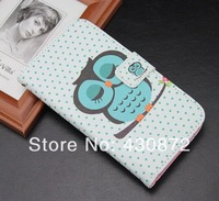 For iphone 5 5s case New arrival Good Quality Sleeping Owl Leather  cell phone cases covers to iphone5 free shipping