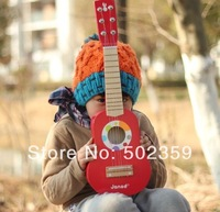WJ-0113 Wool small guitar 21 lsquo . guitar child guitar 6 line steel wire line 1.3 red color  good toys