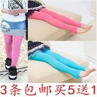 Child pantyhose spring and autumn velvet jacquard female child socks all-match socks step dance socks