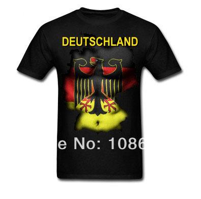 2014 world cup custom deutschland logo printed t shirt high quality cotton men short sleeve clothing free bulk/mix order(China (Mainland))