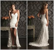 cheap short front wedding dress