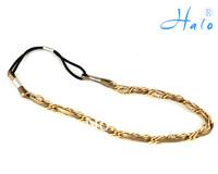 HD0007 free shipping 6PC/lot  fashion quality handamde PU Leather aluminium chain girls headband wholesale
