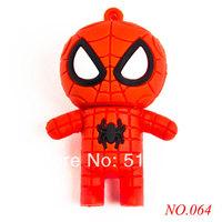 New arrival free shipping America Captain Spiderman 8GB/16GB/32GB USB Flash Drive Data Storage Pen Drive USB 2.0 dzU064z0