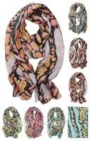 New Fashion Voile Leopard Animal Cotton Soft Chiffon Scarf Print Shawl Beach Wrap