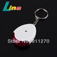 20pcs/lot LED Light Whistle Sound Voice Control Alarm Key Chain Keychain Finder