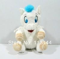 Free shipping 1pcs 25cm stuffed cute Hercules white horse baby plush toys doll