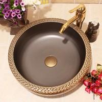 Jingdezhen ceramic thickening knife drum art basin wash basin counter basin sanitary ware