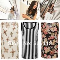 Women Blouses 2014 NEW Beautiful Different Color Print Chiffon Blouse shirt Tops For Woman LADIES sheer blouses S-XXXL