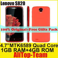 "Lenovo S820  MTK6589 Quad-core CPU RAM 1GB+4GB ROM  4.7"" IPS Android 4.2 OS Dual sim WIFI GPS Spanish"