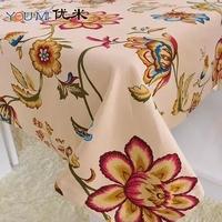 Hot !!cotton canvas cloth tablecloth table cloth 140cm*180cm free shipping