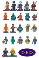 kids toys Batman*hulk*spider man*Shazam8*Nick Fury*Batman*Wonder woman*Captain* Flash*Deadpool*Educational Bricks minifigures