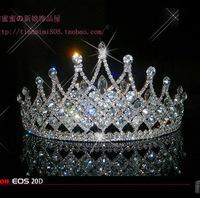 Luxury unqiue bride hair accessory princess wedding crystal crown queen hearwear hair jewelry