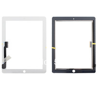 10pcs/lot Touch Screen For iPad 3 iPad 4 Touch Screen Digitizer Replacement Free Shipping By DHL!! (White/Black)