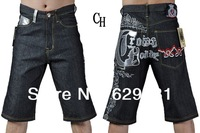 2014 top fasion sale skinny straight solid bohemian mid velour acetate button fly light 100% cotton men's short ch shorts jeans