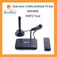 CS818 Dual core DVBT TV BOX new arrival DVBT2 TV set top box with IR remote support external bluetooth 4.0