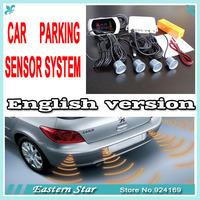 1 Set Car LCD 4 Reverse Parking Sensors Backup Radar Kit 15 colors sensor to choose English broadcast