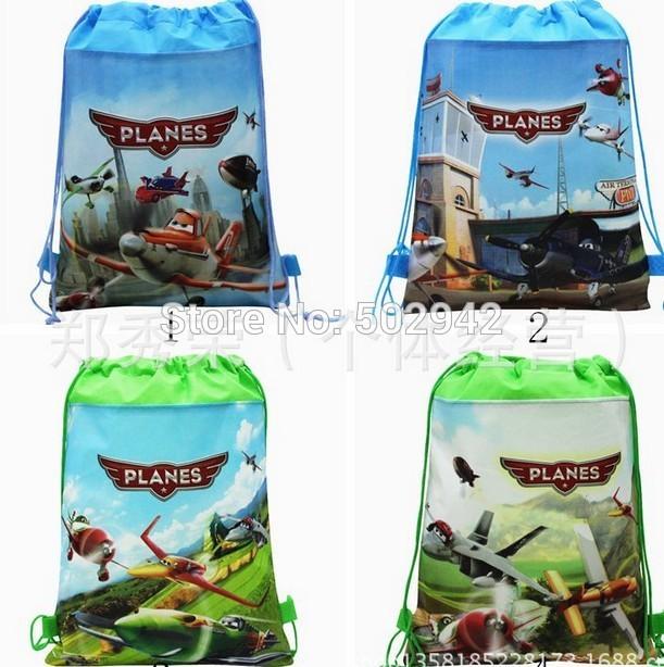 Wholesale 24pcs Cartoon plane Fashion shoe bag, shoe pouch, gift bag, drawstring bag schoolbag shoulderbag(China (Mainland))