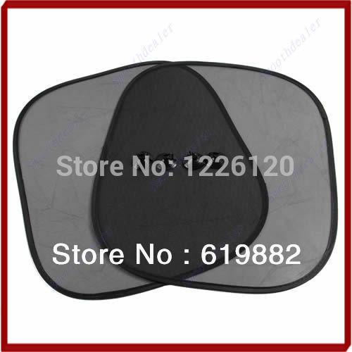 W110 New Arrive 2Pcs Car Window Sunshade Sun Shade Visor Side Mesh Cover Shield Sunscreen Black 44 x 36 cm(China (Mainland))