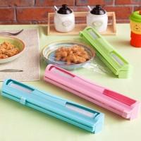 BF020 Hot  kitchen helper candy color film cutter Cling film box cling film helper 36*7.5*5.2cm freeshipping